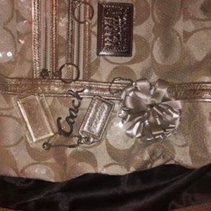 Coach Bling Bag with Bag and Key Chains